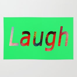Laugh Sign #society6 #springfonts #typography Rug