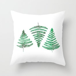 Fiordland Forest Ferns Throw Pillow