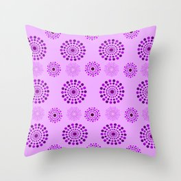 pattern purple cercles decoration Throw Pillow