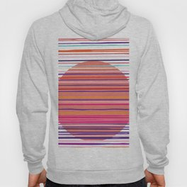 Sunset colorful stripes and sun pattern Hoody