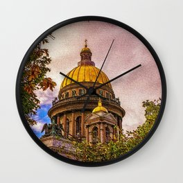 Life Up On The Hill Landscape by Jeanpaul Ferro Wall Clock