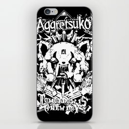 Red Panda Death Metal cutie Aggretsuko iPhone Skin