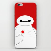 big hero 6 iPhone & iPod Skins featuring Big Hero 6 - Baymax by brit eddy