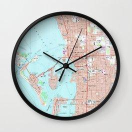 Vintage Map of Sarasota Florida (1973) Wall Clock