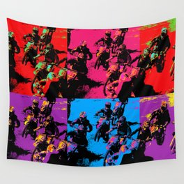 Race Mania Motocross Racers Wall Tapestry
