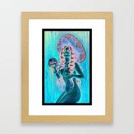 Day of the dead/ muertos pin up senorita Framed Art Print