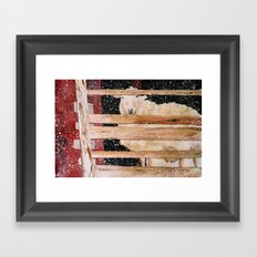 virgin wool Framed Art Print