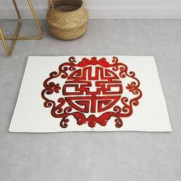 Chinese Stamp Rug