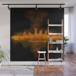 Cleveland City Skyline Hq V4 Wall Mural