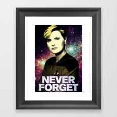 Never Forget Tasha Framed Art Print