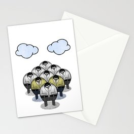 TWO GATHER WITH CLOUDS Stationery Cards