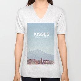 Kisses from Pompei Unisex V-Neck