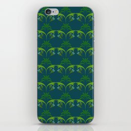 Green Wheat Floral iPhone Skin