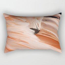 Portrait Of A Flamingo Rectangular Pillow