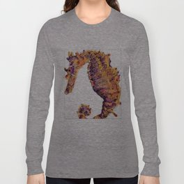 Seahorse Adrift in Color! Long Sleeve T-shirt