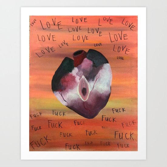 Fuck Love Art Print