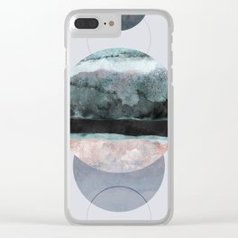 Geometric Textures 12 Clear iPhone Case