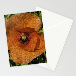 POPPY PAPAVERO FLOWER Stationery Cards