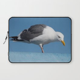 Seagull on a Rooftop Laptop Sleeve