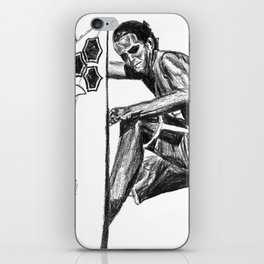 Surfer - Black and White iPhone Skin
