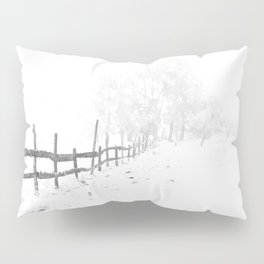 Fence and Snow Pillow Sham