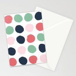 Painted dots abstract minimal modern art print for minimalist home decor nursery Stationery Cards