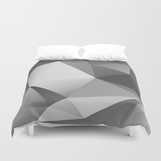 geometric VII [black & white] Duvet Cover