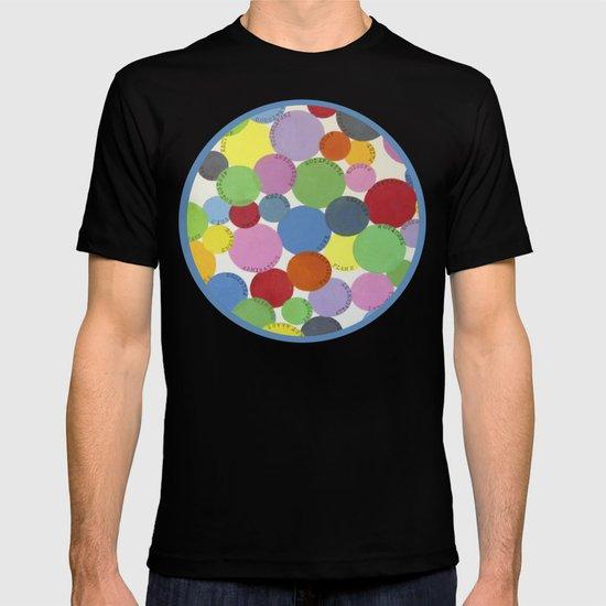 Word Bubbles Blue T-shirt