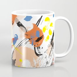 Abstract Floral Splash Coffee Mug
