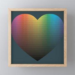 Rainbow Hearts Framed Mini Art Print