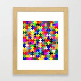 Jigsaw Pieces In Colour Framed Art Print