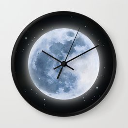 Full Moon: Water Element Wall Clock