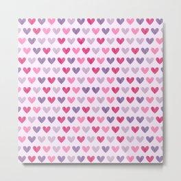 Colorful hearts V Metal Print