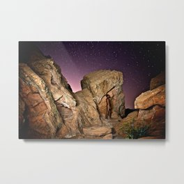 Nude in the Desert Metal Print
