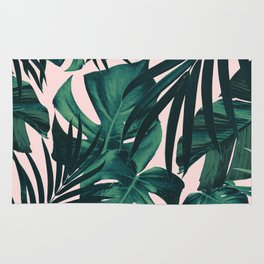 Tropical Jungle Leaves Pattern #5 #tropical #decor #art #society6 Rug