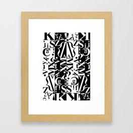black on white on black Framed Art Print