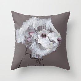 Mr Fluff Throw Pillow