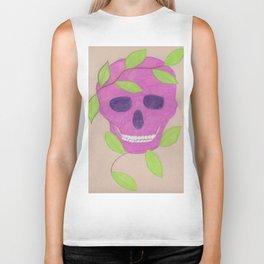 pink skull Biker Tank