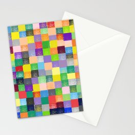 Pixelated Patchwork Stationery Cards