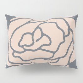 Rose Vintage Rose Pink on Pebble Gray Pillow Sham