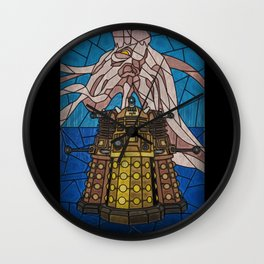Dalek stained glass Wall Clock