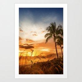 BONITA BEACH Lovely Sunset Art Print