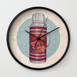 Retro Warm Water Jar Wall Clock