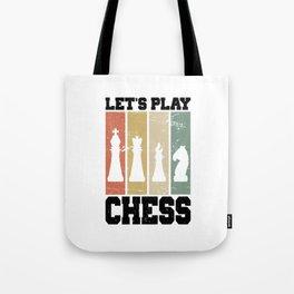 Let's Play Chess T Shirt Chess TShirt Chess Player Shirt Vintage Gift Idea Tote Bag