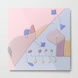Spontaneous watercolor experimental abstract art nature mathematics theory order C&F_008 Metal Print