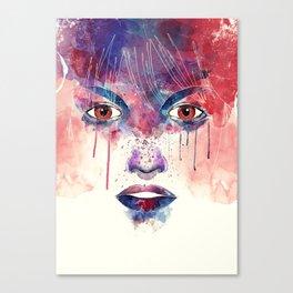 Um rosto aquarelável Canvas Print