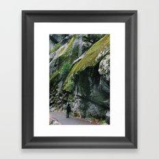 Stacked moss Framed Art Print