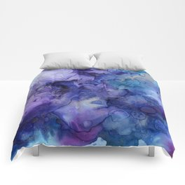 Abstract Watercolor and Ink Comforters