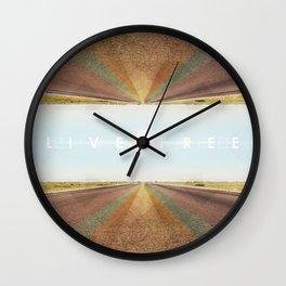Live Free Wall Clock