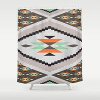 navajo Shower Curtains featuring Navajo by Priscila Peress
